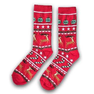Holland sokken Foute Kerst-sokken (heren) - Rood -Rendieren