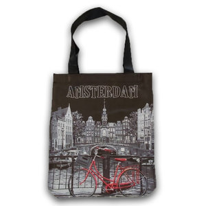 Typisch Hollands Shopping bag - Amsterdam - Westertoren - by Night