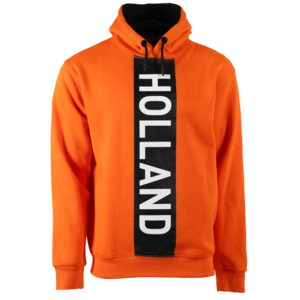 Holland fashion Oranje Hoodie - Holland (vertical cut) Zwart-Witte accenten