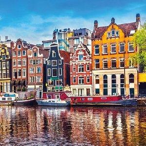 Typisch Hollands Amsterdam - Holland servetten met  grachtengordel