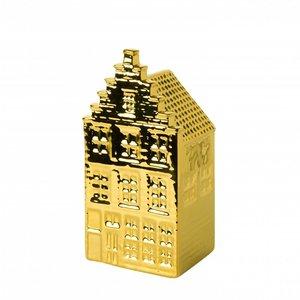Heinen Delftware Gouden huisje - Trapgevel