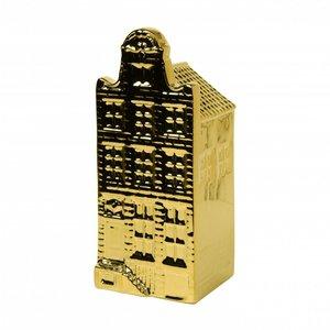 Heinen Delftware Gouden huisje - Halsgevel - hoog