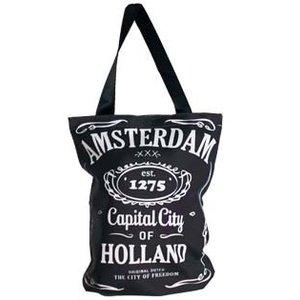 Typisch Hollands Boodschappen tas - Amsterdam Capital City 33x40 cm.