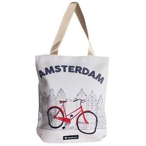 Typisch Hollands Shopping bag - Amsterdam bicycle 33x40 cm.
