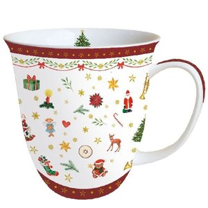 Typisch Hollands Christmas Mug Ornaments All Over Red