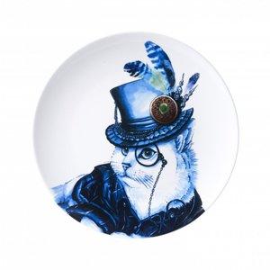 Heinen Delftware Delft blue plate - Stylish Cat