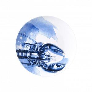 Heinen Delftware Delfts blauw bord -  Kreeft - Lichtblauw