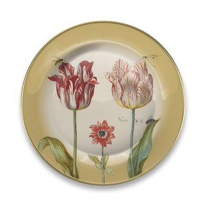 Typisch Hollands Plate Marrel Tulips yellow Ø 16 cm - in gift box
