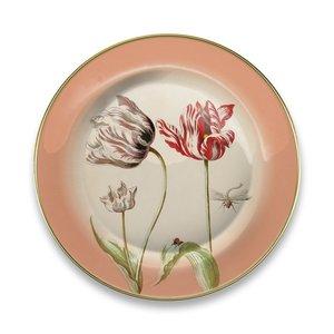 Typisch Hollands Bord Marrel Tulpen rood Ø 16 cm - in geschenkverpakking