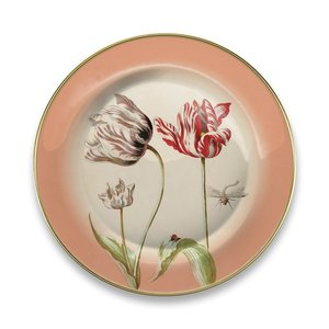 Typisch Hollands Plate Marrel Tulips red Ø 16 cm - in gift packaging