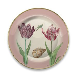 Typisch Hollands Bord Marrel Tulpen roze Ø 16 cm - in geschenkverpakking