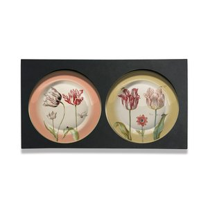 Typisch Hollands Gift set of 4 wall plates -Marrel - Tulip series