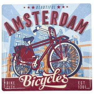 Typisch Hollands Onderzetter- Amsterdam Bicycles