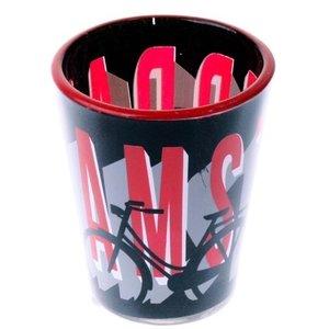 Typisch Hollands Shotglas Amsterdam- Rood- wit
