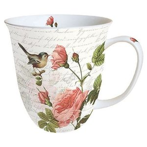 Typisch Hollands Mug - Porcelain - Rose tendril with bird
