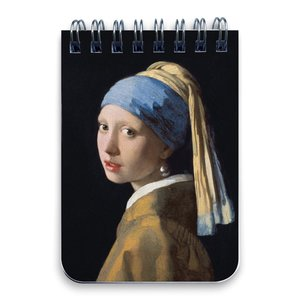 Typisch Hollands Notebook - Ring binder A7 the girl with a pearl earring