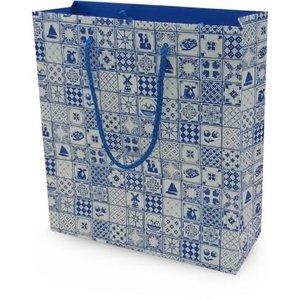Typisch Hollands Gift bag Dutch decoration - Delft blue - Copy - Copy