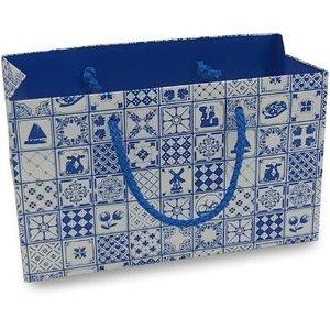Typisch Hollands Geschenktasje Hollandse decoratie - Delfts blauw