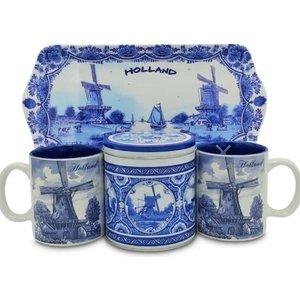 www.typisch-hollands-geschenkpakket.nl Holland geschenk  Molens Delfts blauw