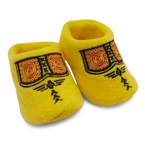 Typisch Hollands Baby slippers - Clog slippers - Yellow Boerenbies (0-6 months)