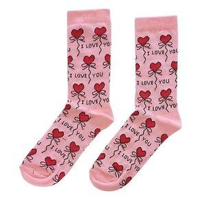 Typisch Hollands Dames-Sokken - I love you ( socks with a message)