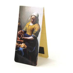Typisch Hollands Magnetische boekenlegger- Het melkmeisje -  Vermeer