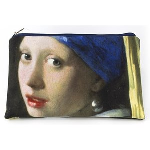 Typisch Hollands Etui - make-up tasje  -Meisje met de parel - Vermeer
