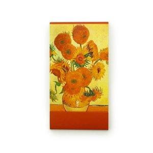 Typisch Hollands Notitieboekje - Zakformaat - Zonnebloemen - van Gogh