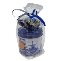 Stroopwafels (Typisch Hollands) Stroopwafels in Gift Tin with Clogs - Blue
