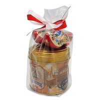 Stroopwafels (Typisch Hollands) Stroopwafels in Gift Tin with Clogs -Gold
