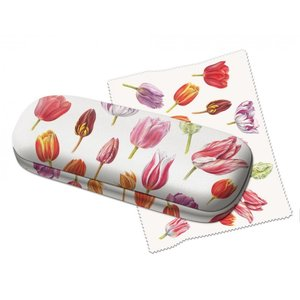 Typisch Hollands Glasses case tulips -collage- with lens cloth