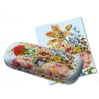 Typisch Hollands Brillenkoker tulpen en rozen  met brillendoekje  - Merian