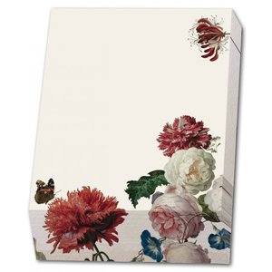 Typisch Hollands Block note - Writing pad - 9.5 x 13.5 cm - Flowers- Marrel