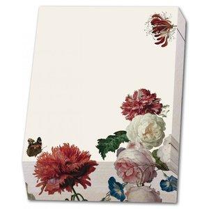 Typisch Hollands Bloknote - Schrijfblok - 9,5 x 13,5 cm - Bloemen- Marrel