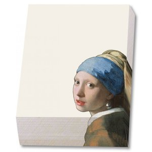 Typisch Hollands Notepad - Writing pad - 9.5 x 13.5 cm - the girl with a pearl earring