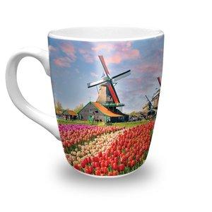 Typisch Hollands Mok - Porselein -  Voorjaar - Holland
