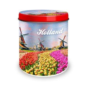 Typisch Hollands Stroopwafels in  blik - Molens en Tulpen ( Voorjaar)
