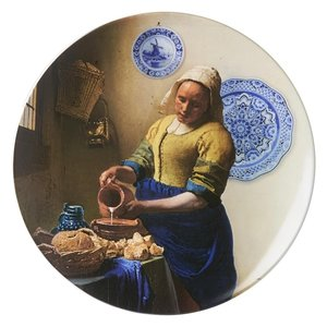 Heinen Delftware Wall plate - the Milkmaid XL (40 cm)
