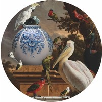 Heinen Delftware Wall plate - Pelican vase 40 cm