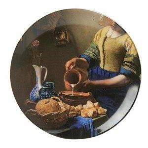 Heinen Delftware Wandbord  - Fragment - het Melkmeisje 20 cm