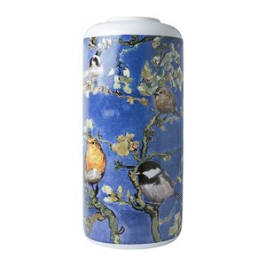 Heinen Delftware Stylish Cylinder vase Almond Blossom 30.5cm