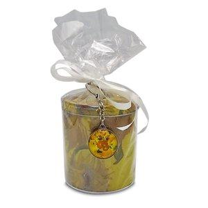 Stroopwafels (Typisch Hollands) Stroopwafels in blik - van Gogh - Zonnebloemen  (met sleutelhanger)