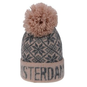 Robin Ruth Fashion Muts Amsterdam met Bolletje (roze-grijs)