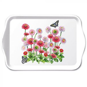Typisch Hollands Tray -Bellis - Flowers and Butterfly 21x14cm
