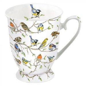 Typisch Hollands Mug - Porcelain - Dutch birds (tits and sparrows)