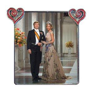 Typisch Hollands Koningshuis - Fotomagneet  -Metaal met hartjes