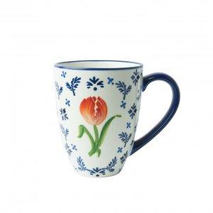 Heinen Delftware Mug orange tulip - porcelain