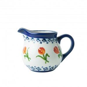 Heinen Delftware Melkkan oranje tulp - Porselein