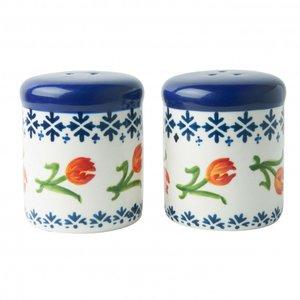 Heinen Delftware Salt & pepper set orange tulip - porcelain
