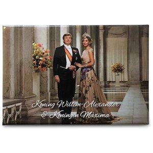 Typisch Hollands Koningshuis - Fotomagneet Koning & Koningin der Nederlanden